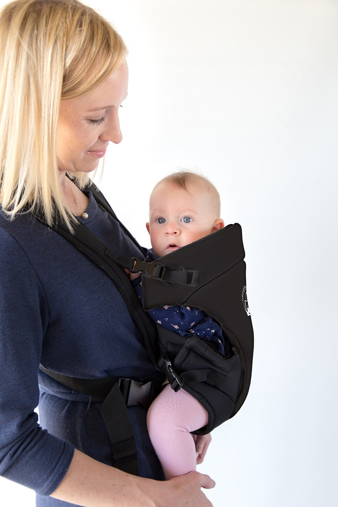 da60eee5a99 BabyWombWorld Classic Front   Back 3-in-1 Baby Carrier - Black ...